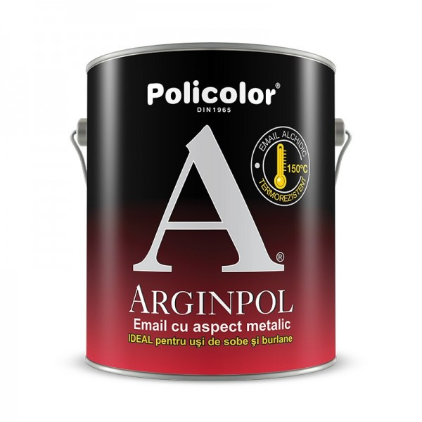 Arginpol - Email cu aspect metalizat pentru suprafețe metalice (0.75L)