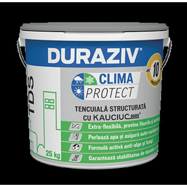 DURAZIV Clima Protect® - Tencuială decorativă structurată TDS Antimucegai, cu Kauciuc® (25kg)