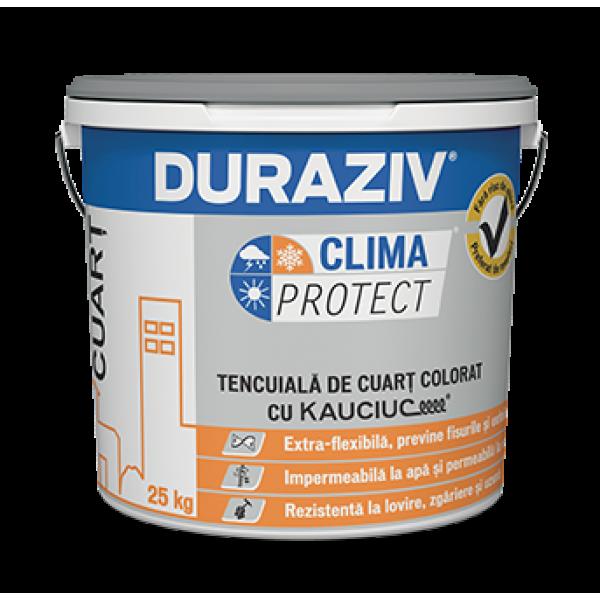DURAZIV Clima Protect® - Tencuială de cuarț colorat, cu Kauciuc® (25kg)