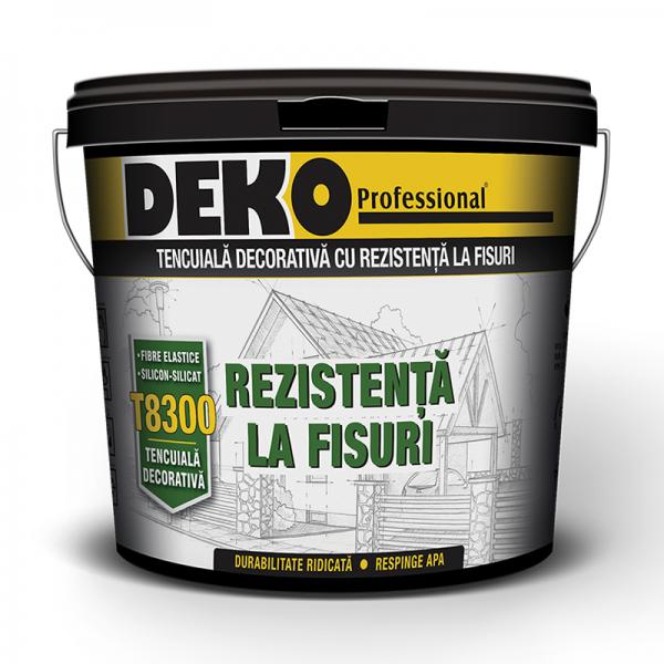 Deko T8300 - Tencuială decorativă silicon-silicat rezistentă la fisuri (25kg)