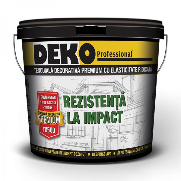 Deko T8500 - Tencuială decorativă rezistentă la impact (25kg)