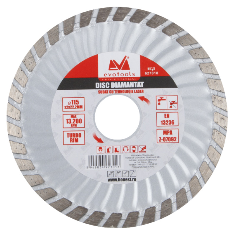 Disc Diamantat Turbo ETP (115mm Diametru)