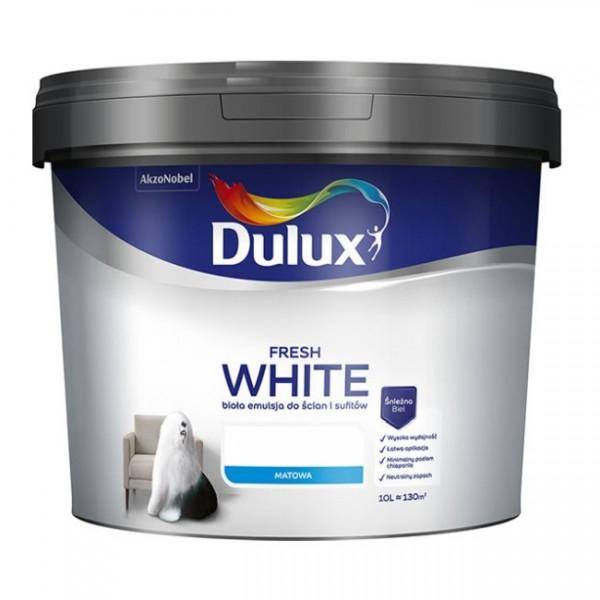 Dulux - Vopsea superlavabilă albă, mată (10L) - STOC LIMITAT