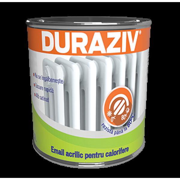 DURAZIV - Email acrilic alb pentru calorifere (0.65L)