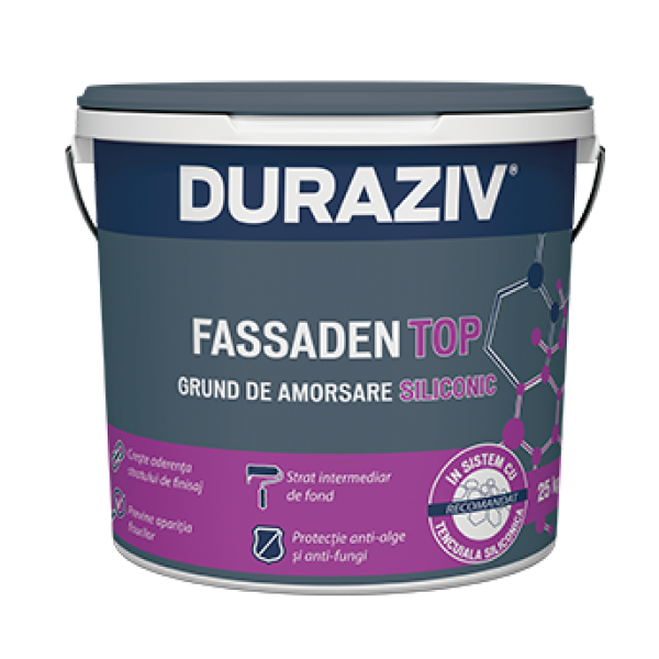 DURAZIV FASSADEN TOP - Grund de amorsare siliconic pentru tencuieli decorative (25kg)