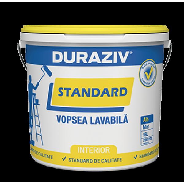 DURAZIV Standard - Vopsea lavabilă albă (15L)