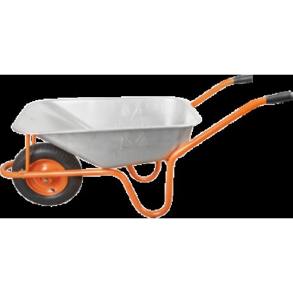 Roabă Evotools cu Roată Pneumatică și Jantă Metalică Placată cu Zinc (80L Volum)