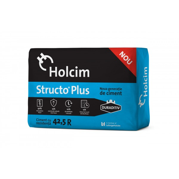 Holcim - Ciment Structo Plus® 42.5R cu Duraditiv (20kg)
