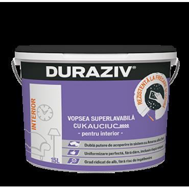 DURAZIV cu Kauciuc® -  Vopsea superlavabilă albă pentru interior (15L)