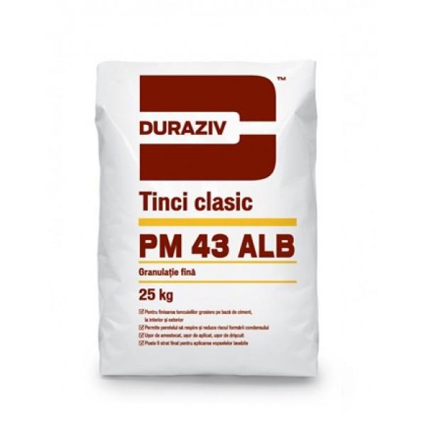 DURAZIV PM 43 Alb - Tinci clasic alb pentru interor și exterior (25kg)