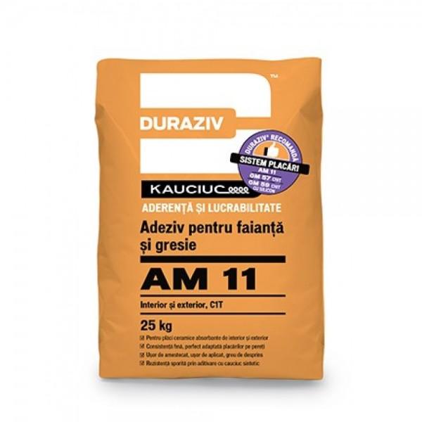 DURAZIV AM 11 - Adeziv pentru faianță și gresie, aditivat cu Kauciuc® (25kg)