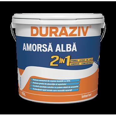 DURAZIV - Amorsă albă 2 în 1 pentru Interior - Primul Strat (15L)