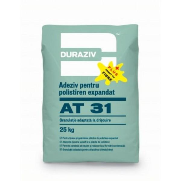 DURAZIV AT 31 Plus - Adeziv și masă de şpaclu pentru polistiren expandat cu fibre de armare (25kg)