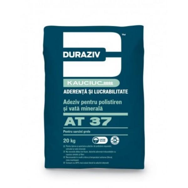 DURAZIV AT 37 - Adeziv pentru polistiren și vată minerală, pentru sarcini grele, aditivat cu Kauciuc® (20kg)