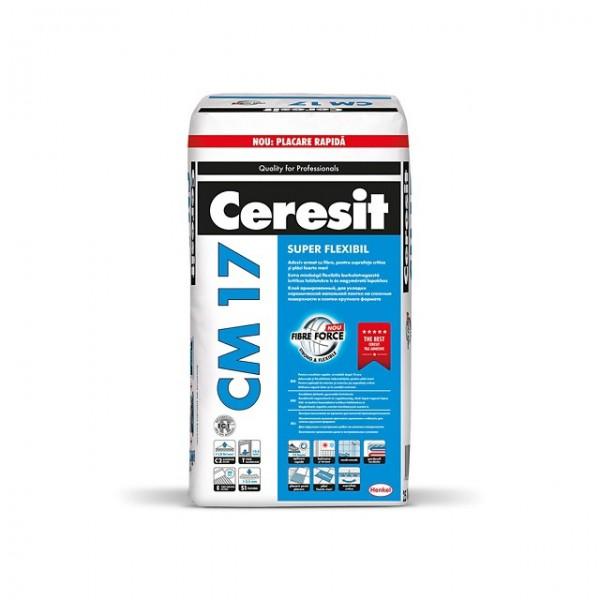 Ceresit CM 17 - Adeziv super-flexibil pentru gresie, faianță și piatră naturală (25 kg)
