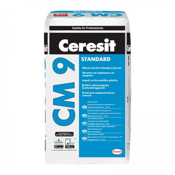 Ceresit CM 9 - Adeziv pentru montare gresie și faianță (25kg)