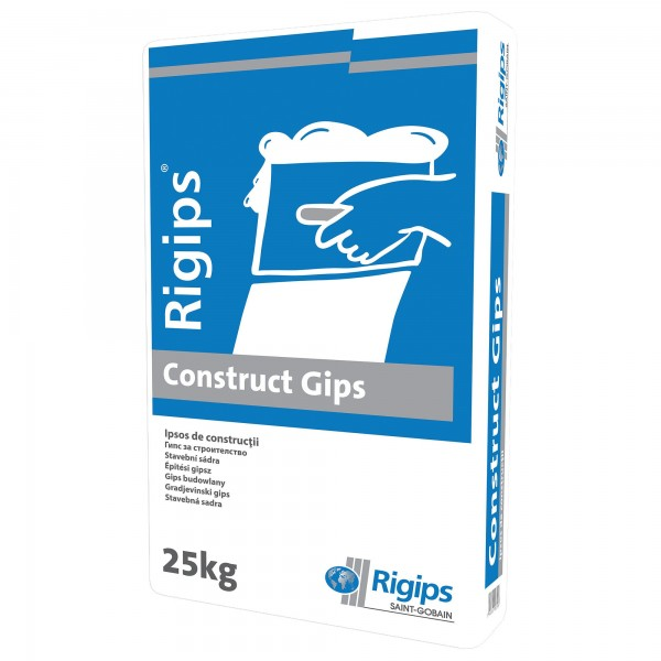 Rigips® CONSTRUCT GIPS - Ipsos gri pentru construcții (25kg)