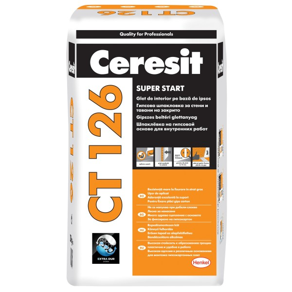 Ceresit CT 126 - Glet de interior pe bază de ipsos (5kg)