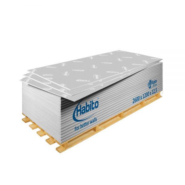 Rigips Habito® - Placă tip DFRI rezistentă la impact, pentru suspendare mobilier și izolare fonică (2600x1200x12.5mm)