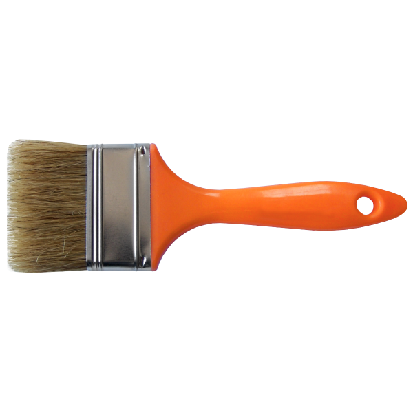 Pensulă cu mâner din plastic Orange (Lățime pensulă 25-100mm)