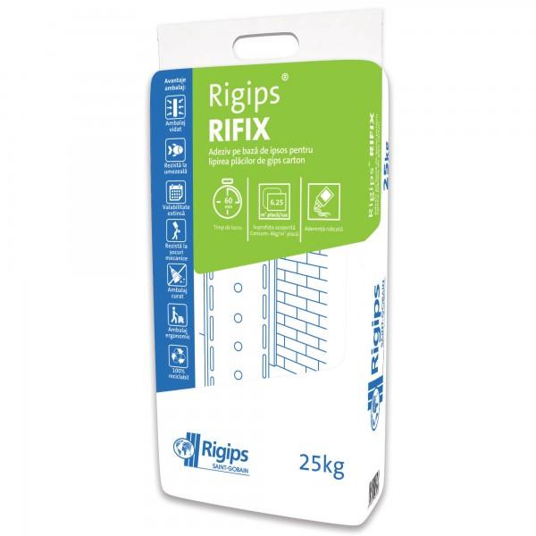 Rigips® Rifix - Adeziv gri pentru lipire plăci de gips-carton (25 kg)