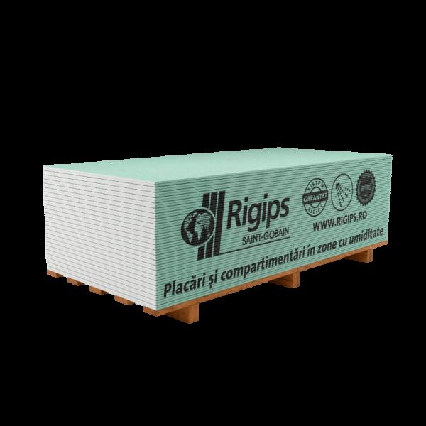 Rigips® 600 RBI 12,5 - Placa de gips-carton tip H2 rezistentă la umiditate (12,5x600x2000)