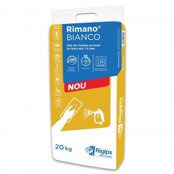 Rimano® BIANCO - Glet de nivelare din ipsos alb (20kg)