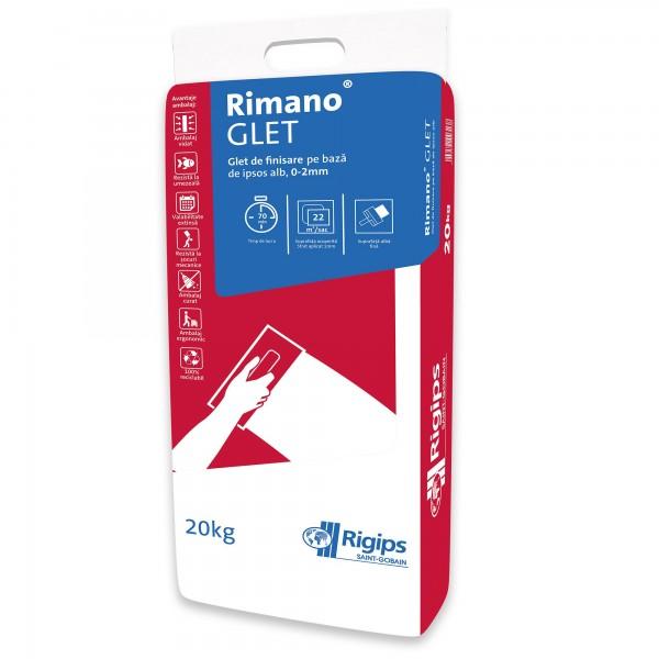 Rimano® GLET - Glet de finisare din ipsos alb (20kg)