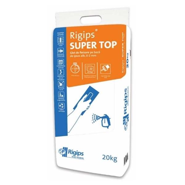 Rigips® SUPER TOP - Glet de finisare pe bază de ipsos alb (20kg)