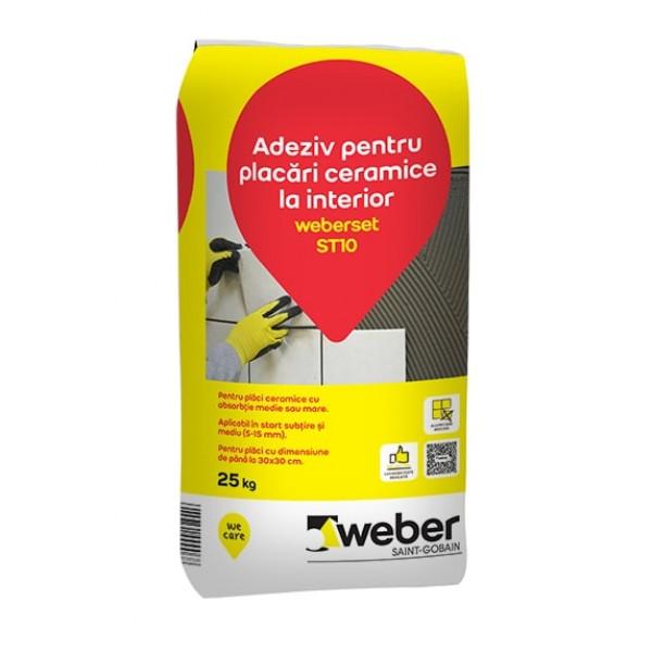 Weberset ST10 - Adeziv pentru placări ceramice la interior (25kg)
