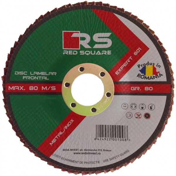 RS Expert - Disc Lamelar Frontal 115mm (100# Granulație) - FABRICAT ÎN ROMÂNIA