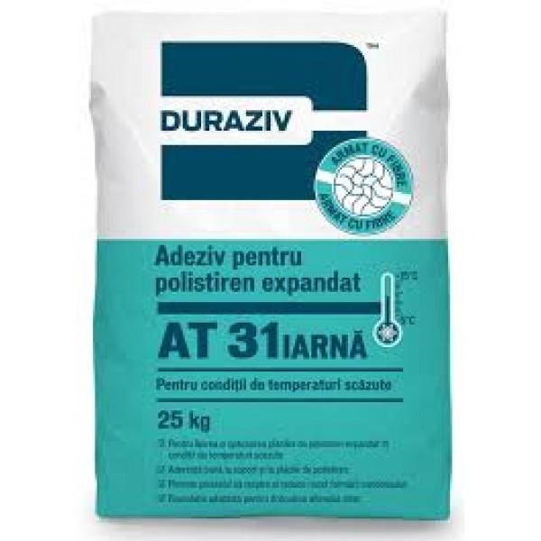 DURAZIV AT 31 Iarnă - Adeziv pentru polistiren expandat pentru condiții de temperaturi scăzute (25kg)