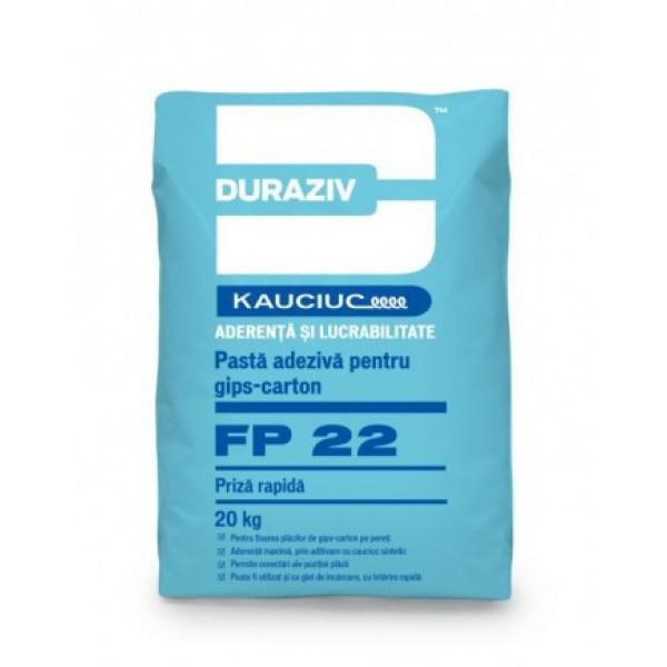 DURAZIV FP 22 - Pastă adezivă pentru gips-carton, cu priză rapidă (20kg)