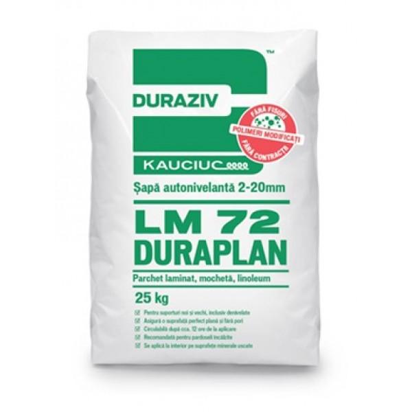 Duraziv LM 72 DURAPLAN - Șapă autonivelantă 2-20mm, aditivată cu Kauciuc® (25kg)
