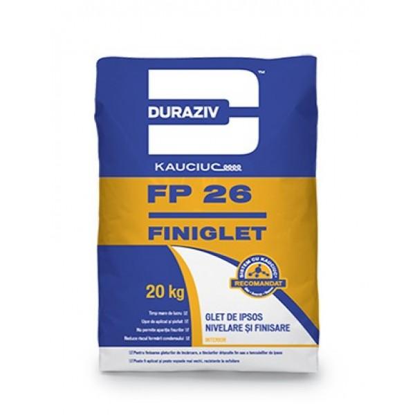 DURAZIV FP 26 FINIGLET - Glet de ipsos nivelare şi finisare, aditivat cu Kauciuc® (20kg)