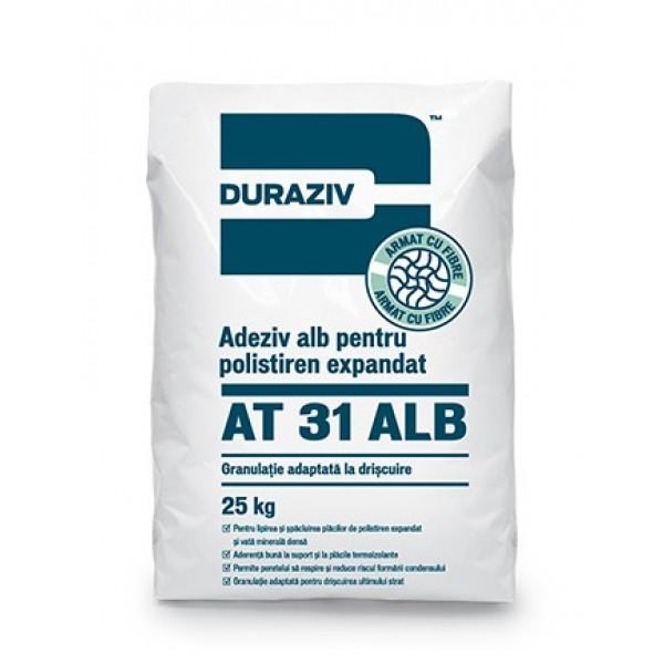 DURAZIV AT 31 Alb - Adeziv alb pentru polistiren expandat şi vată minerală (25kg)