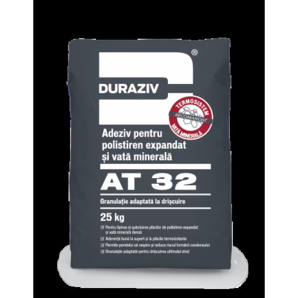 DURAZIV AT 32 - Adeziv pentru polistiren expandat și vată minerală (25kg)