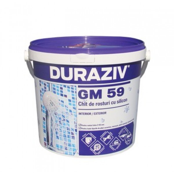 DURAZIV GM 59 - Chit de rosturi cu silicon - diverse culori (2kg)