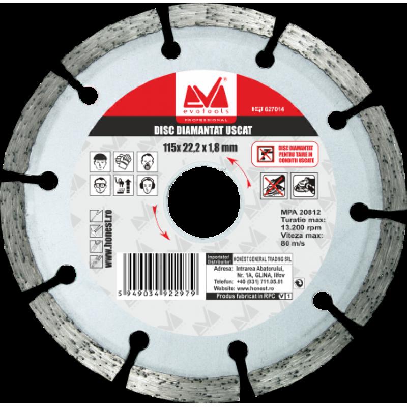 Disc Diamantat Uscat ETP (180mm Diametru)