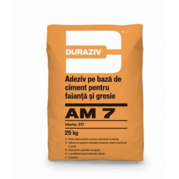 DURAZIV AM 7 - Adeziv pentru gresie și faianță, pentru interior (25kg)