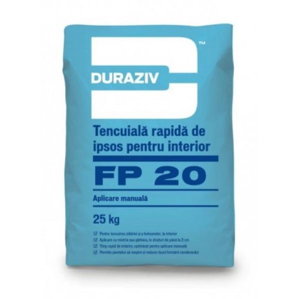 DURAZIV FP 20 - Tencuială rapidă de ipsos (25kg)