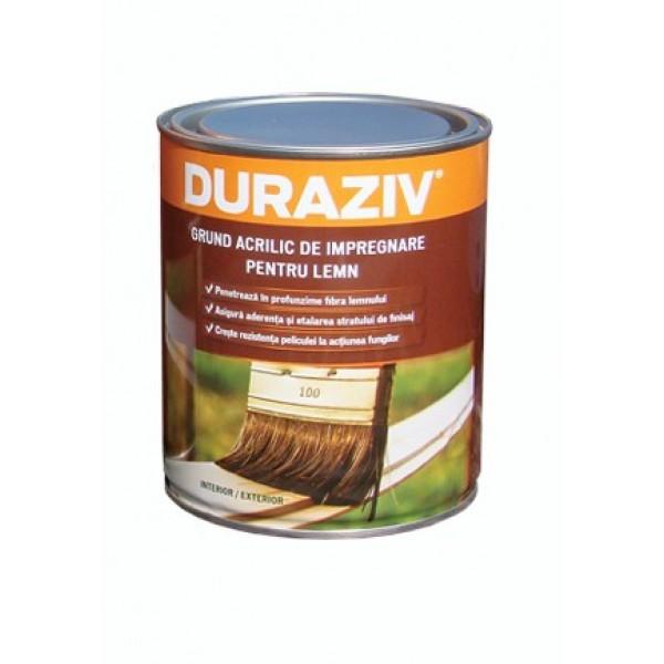 DURAZIV - Grund acrilic de impregnare pentru lemn, incolor (0.65L)