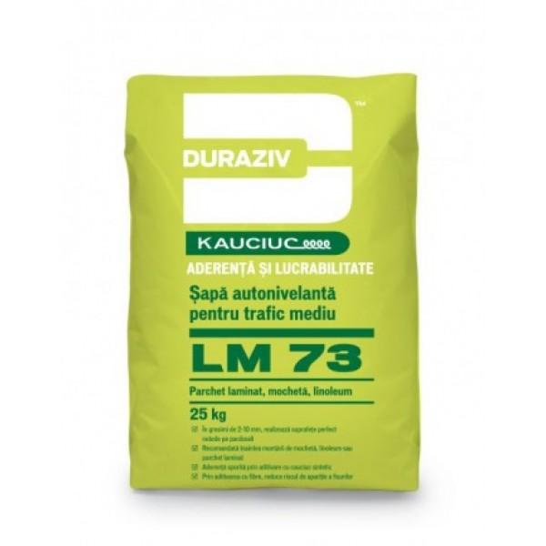DURAZIV LM 73 - Șapă autonivelantă pentru trafic mediu, aditivată cu Kauciuc® (25kg)