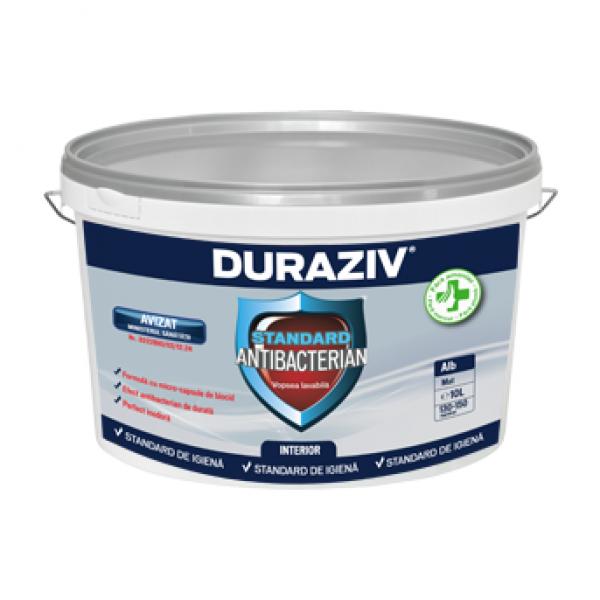 DURAZIV Standard Antibacterian - Vopsea lavabilă albă pentru interior (10L)