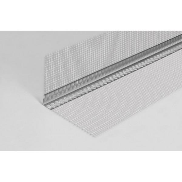 Colțar PVC cu Plasă (2500x100x100mm)