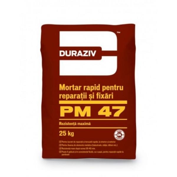 DURAZIV PM 47 - Mortar rapid pentru reparații și fixări (25kg)