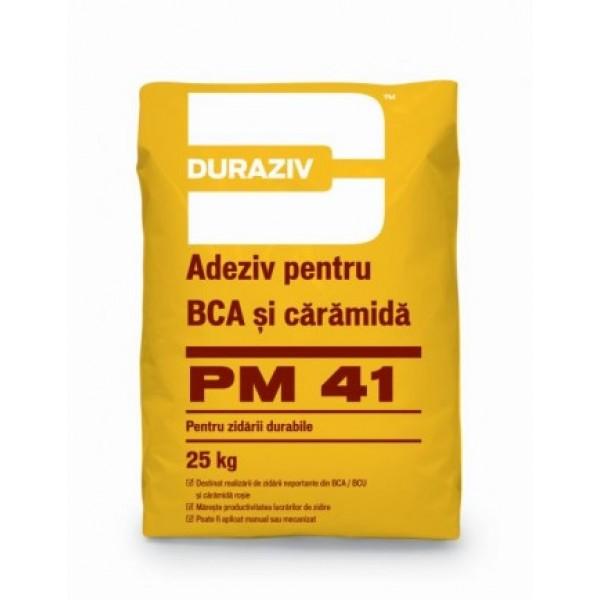 DURAZIV PM 41 - Adeziv pentru BCA și Cărămidă (25kg)