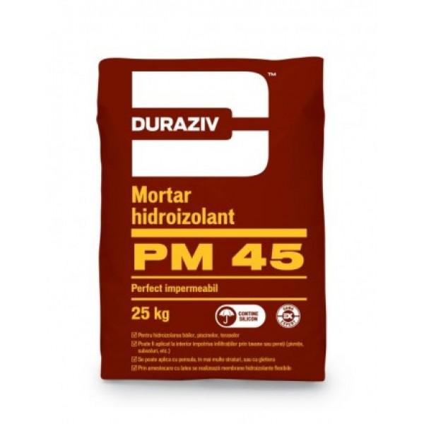DURAZIV PM 45 - Mortar hidroizolant monocomponent, aditivat cu silicon (25kg)