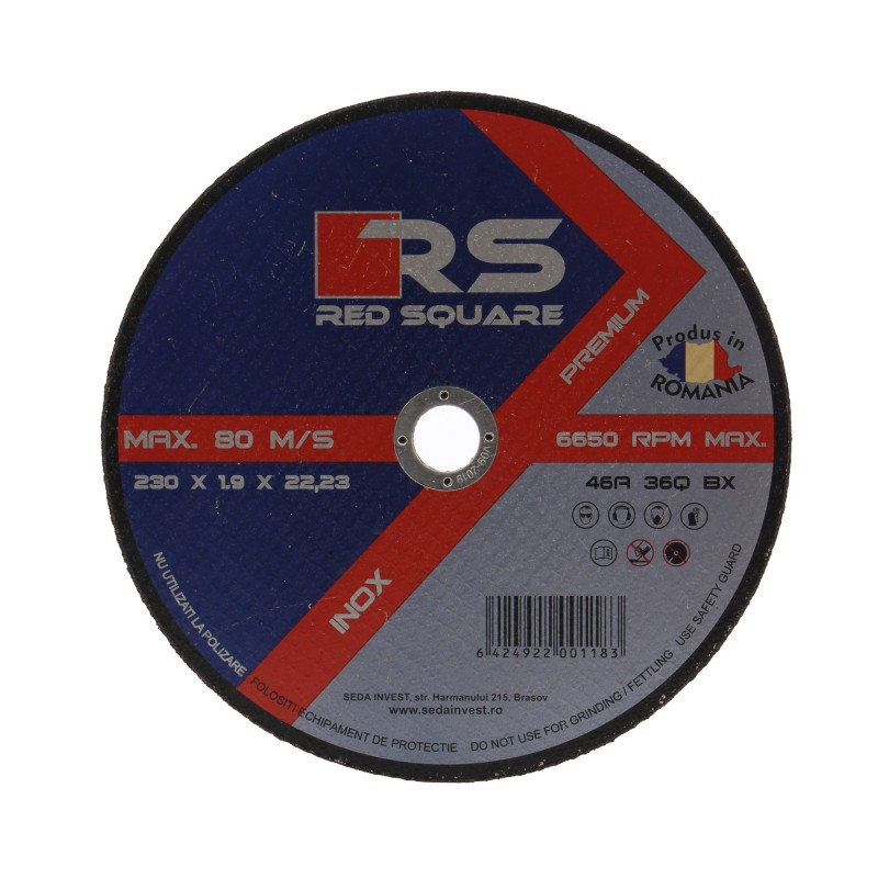 RS Premium - Disc Plan pentru Debitat 125mm (2.5mm Grosime) - Fabricat în România