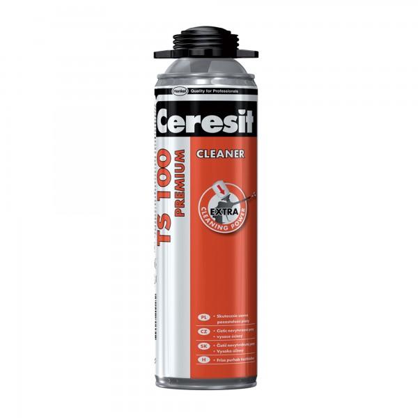 Ceresit TS 100 Premium Cleaner - Agent de curățare pentru spumă poliuretanică în faza proaspată (500ml)